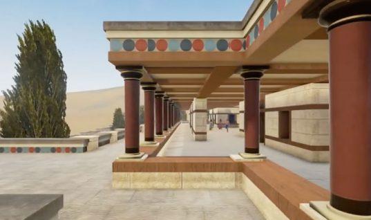 Φοβερό! Ταξιδέψτε στην Αρχαία Ελλάδα μέσα από το βίντεο για το παλάτι της Κνωσού – Πως έμοιαζε;