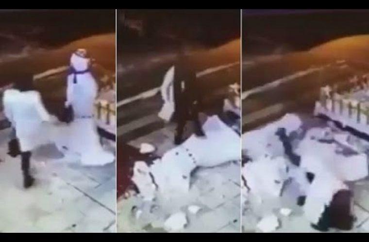 Γυναίκα τα «έβαλε» με χιονάνθρωπο καιμας χάρισε ένα από τα πιο διασκεδαστικά video! Δείτε το