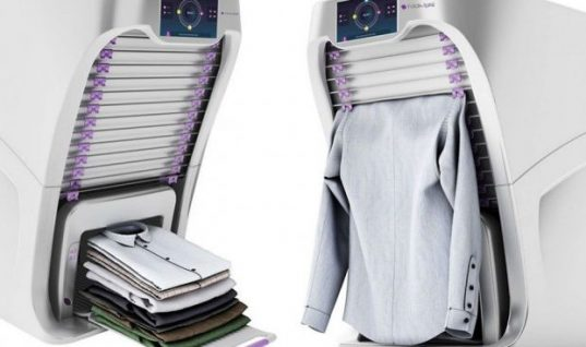 Ήρθε το μηχάνημα που διπλώνει και «σιδερώνει» τα ρούχα μετά το πλυντήριο!