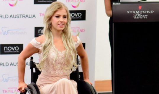 Μια 26χρονη από την Αυστραλία έγινε η πρώτη υποψήφια με αναπηρικό αμαξίδιο στο διαγωνισμό Miss World Australia!