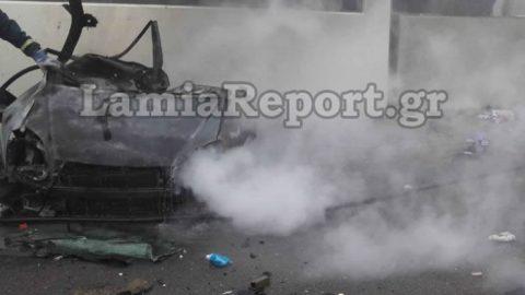 Βίντεο-σοκ: Η στιγμή της φρικτής σύγκρουσης στην Αθηνών-Λαμίας, όπου έχασαν τη ζωή τους 4 άνθρωποι