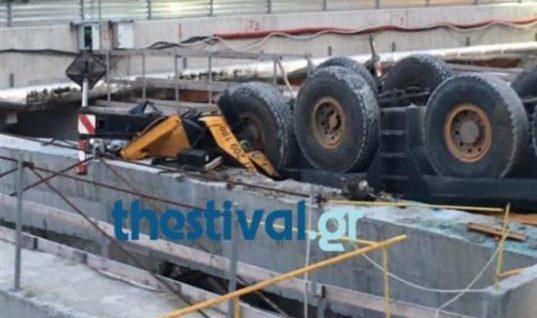 Nεκρός χειριστής γερανού σε εργοτάξιο του μετρό στη Θεσσαλονίκη