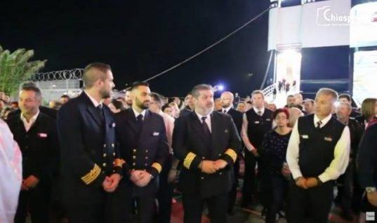 Ο καπετάνιος που συγκίνησε τον κόσμο στον Επιτάφιο της Χίου! Δείτε τι έκανε
