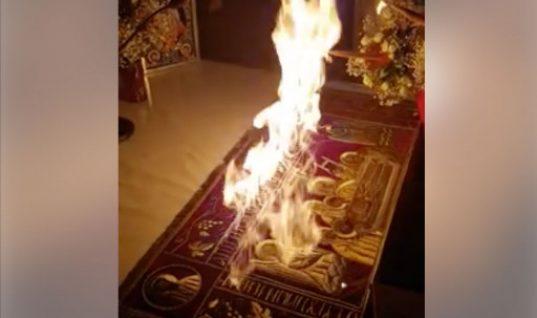 Ιερέας έβαλε… φωτιά στην Αγία Τράπεζα για το Δεύτε Λάβετε Φως (vid)