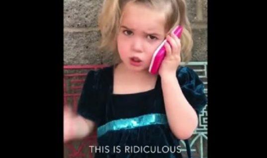 Κρατήστε την κοιλιά σας από τα γέλια: Ο τηλεφωνικός καυγάς μιας 5χρονης με το… αγόρι της (Vid)