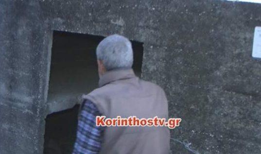 Εικόνες που σοκάρουν: Άστεγος κοιμάται στο νεκροταφείο στο Βέλο Κορινθίας
