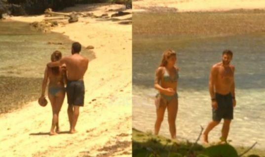 Survivor: Τι «τρέχει» μεταξύ Βαλαβάνη – Βασάλου; Βόλτα για δύο στην παραλία!