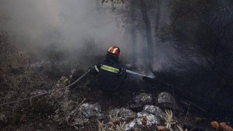Πυροσβεστική για Καπανδρίτι: Η φωτιά δεν ελέγχεται