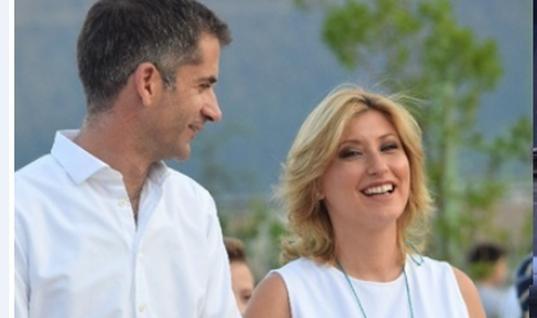 Η βόλτα του Κώστα Μπακογιάννη και της εγκυμονούσας Σίας Κοσιώνη στο Καρπενήσι