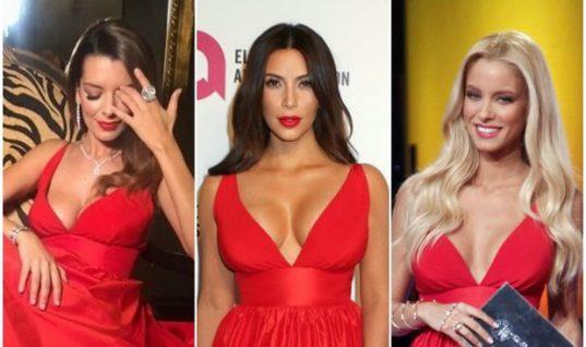 Το κόκκινο φουστάνι: Νικολέτα Ράλλη, Δούκισσα Νομικού και Kim Kardashian έβαλαν το ίδιο φόρεμα! (εικόνες)