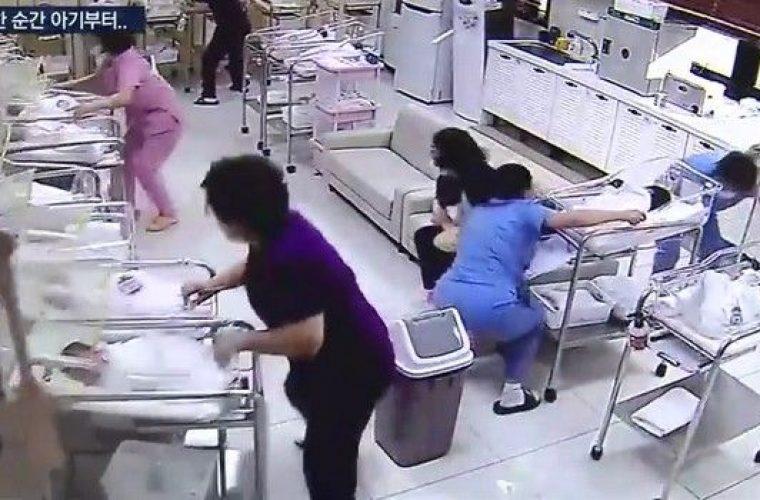 Συγκλονιστικό βίντεο: Νοσοκόμες σώζουν νεογέννητα κατά τη διάρκεια σεισμού