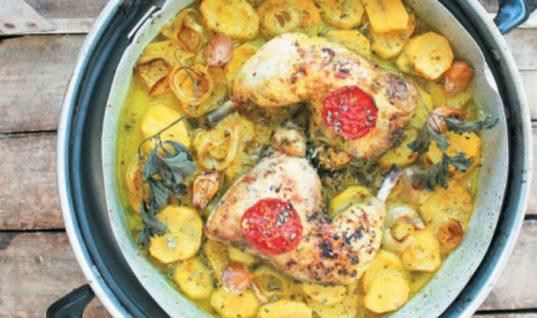 Λεμονάτα μπουτάκια κοτόπουλου με πατάτες της γιαγιάς!