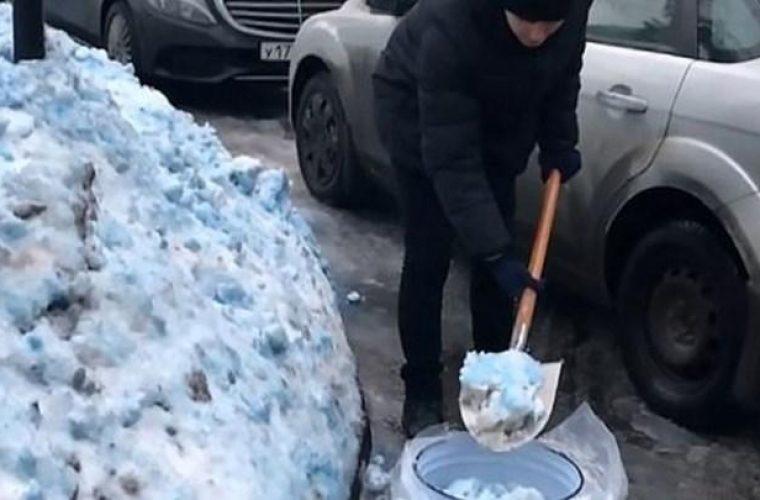 Μυστήριο και σύγχυση από το μπλε χιόνι – Πανικόβλητοι οι κάτοικοι (εικόνες)