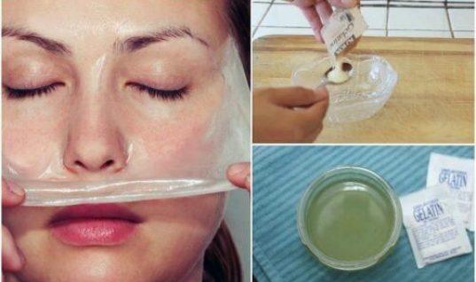 Πώς να αφαιρέσετε τα μαύρα στίγματα με μάσκα από γάλα και ζελατίνη