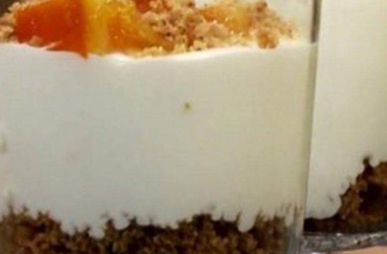 Cheesecake πορτοκάλι στο ποτήρι!