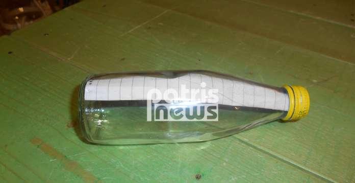 Ηλεία: Η θάλασσα ξέβρασε αυτό το μπουκάλι – Το μήνυμα με τις 32 λέξεις που προκαλούν συγκίνηση (εικόνα)