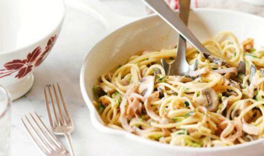 Super συνταγή: Εύκολη, πεντανόστιμη και με τις μισές θερμίδες καρμπονάρα με γιαούρτι!