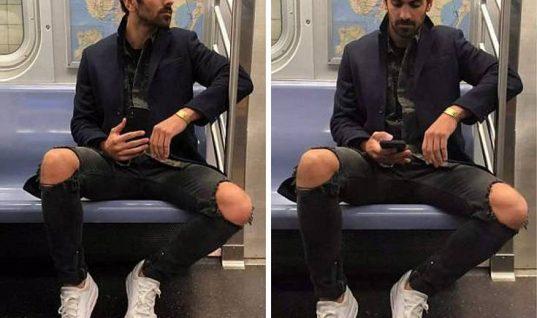 Τον τράβηξε κρυφά φωτογραφίες με το κινητό στο μετρό αλλά αυτή την εξέλιξη δεν την περίμενε!
