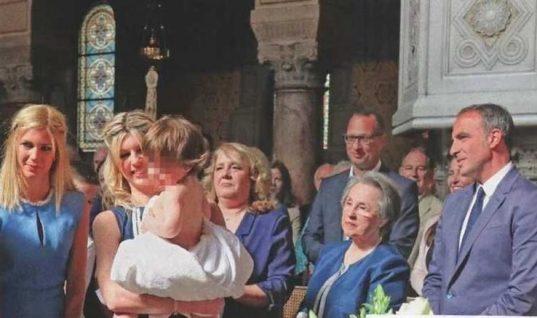 Νίκος Αλιάγας: Η λαμπερή βάπτιση του γιου του στο Παρίσι! (εικόνες)