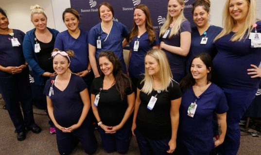 Απίστευτο – 16 νοσηλεύτριες και οι 16 έγκυες στο ίδιο νοσοκομείο! (vid)