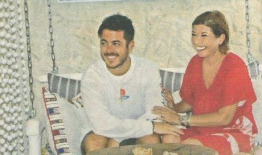 Σοφία Αλιμπέρτη: Φωτογραφίζεται μαζί με το γιο της Μιχαήλ-Άγγελο στο cafe της στην Πάρο!