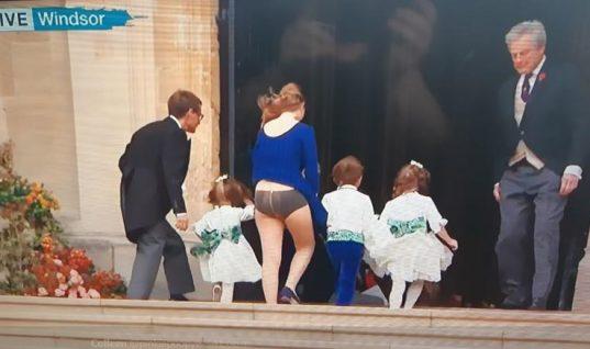 Η χειρότερη στιγμή του βασιλικού γάμου: Εφιάλτης ο αέρας για καλεσμένη!( εικόνες)