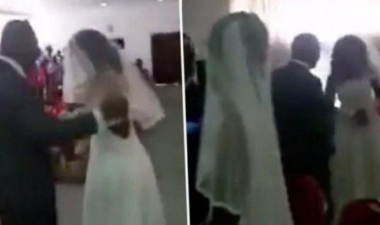 Ντύθηκε νυφούλα και πήγε στο γάμο του έραστή της – Έγινε πανικός (Vid)