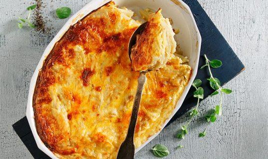 Σουφλέ με πατάτες, αυγά και γιαούρτι!