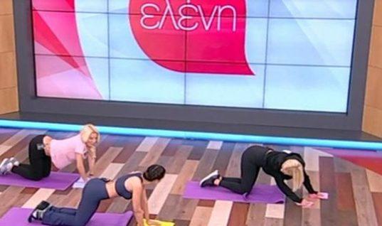 Απίστευτο σκηνικό: Η Ελένη Μενεγάκη έφυγε… μπουσουλώντας από το πλατό! (vid)