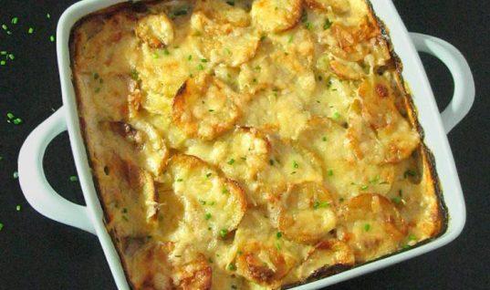 Πατάτες με τυρί κρέμα στο φούρνο