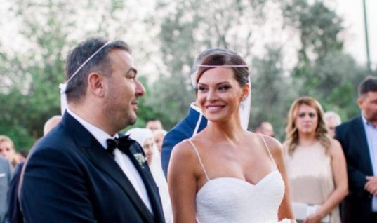 Σαν από ταινία του Χόλιγουντ: Η υπέροχη φωτογραφία που πόσταρε η Υβόννη Μπόσνιακ από τον γάμο της με τον Ρέμο!