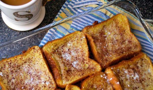 Το πρωινό του χειμώνα: Γλυκές αυγοφέτες με μέλι στον φούρνο!