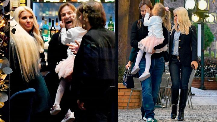 Κλασικός χαζομπαμπάς ο Παντζόπουλος: Οι τρυφερές αγκαλιές με τη μικρή Μαρίνα! (εικόνες)
