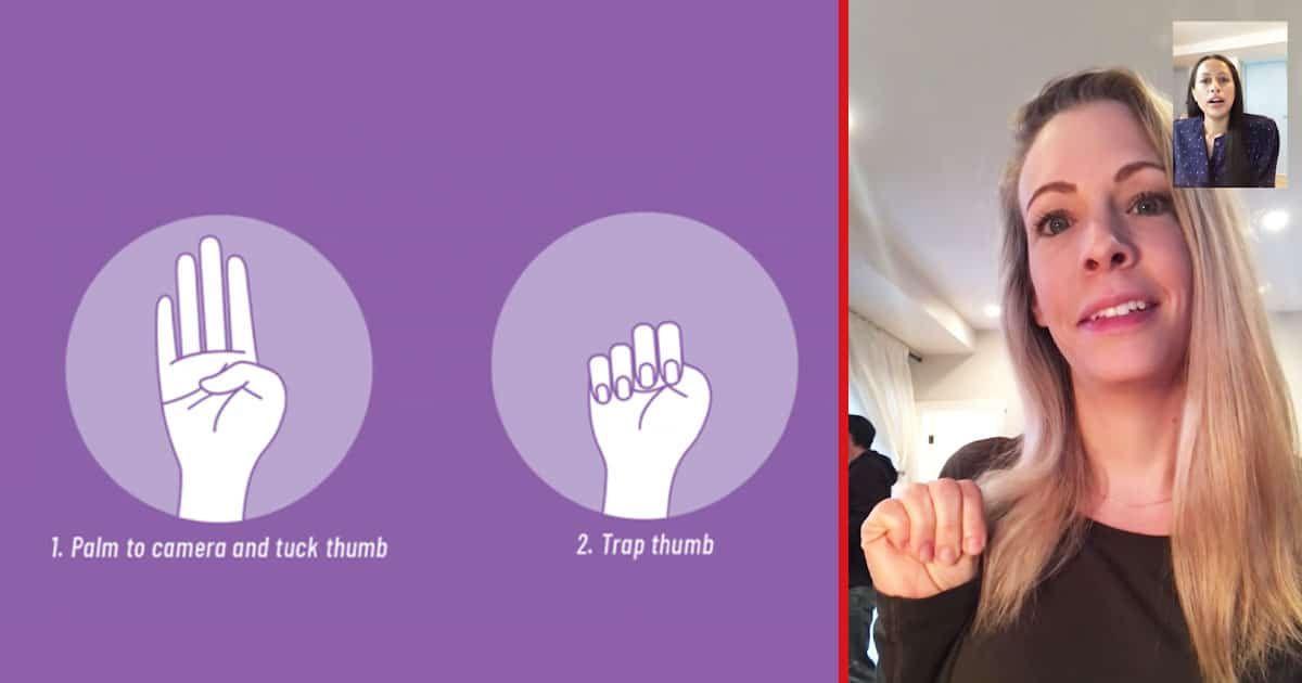 Συγκλονιστική στιγμή: Θύμα ενδοοικογενειακής βίας κάνει νόημα στη φίλη της μέσω βιντεοκλήσης– Η κίνηση που όλες πρέπει να ξέρουμε (vid)