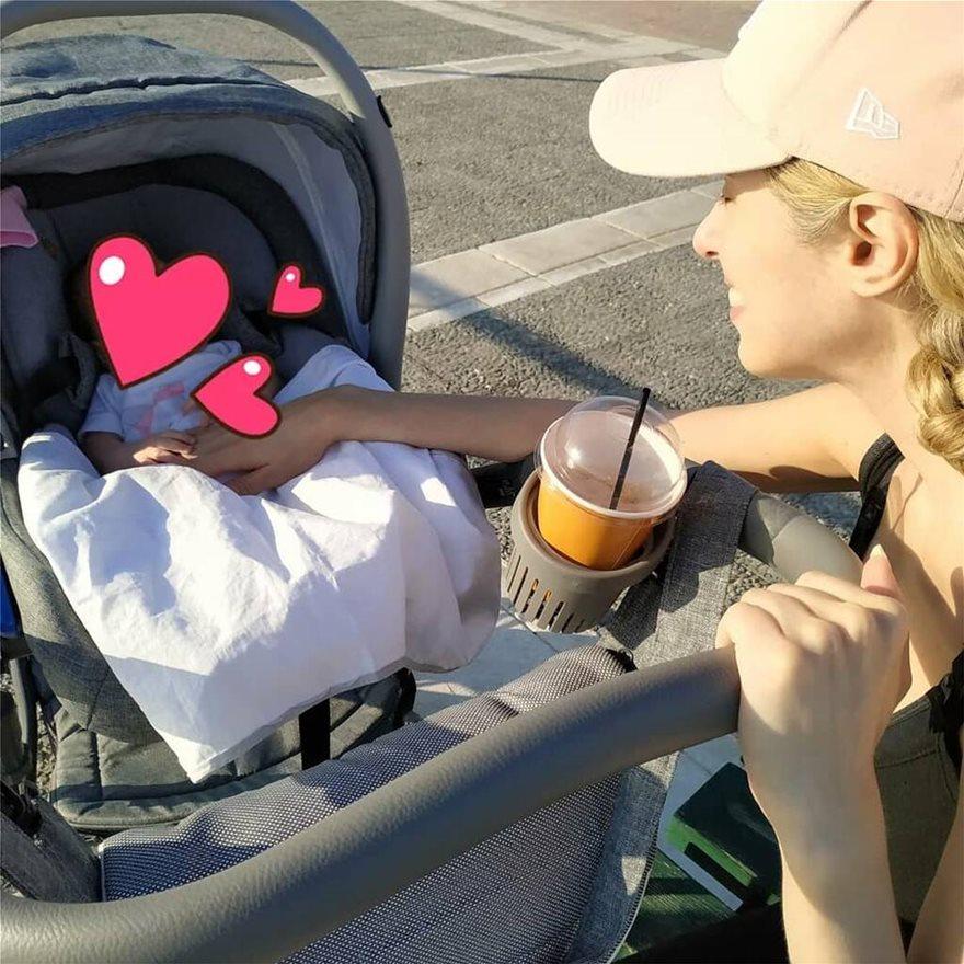 Χριστίνα Ψάλτη: Βόλτα με τη δύο μηνών κόρη της! Η πρώτη φωτογραφία της μικρής