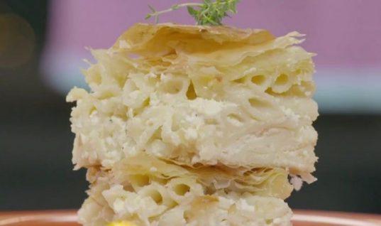 Παραδοσιακή χωριάτικη μακαρονόπιτα από την Αργυρώ Μπαρμπαρίγου!