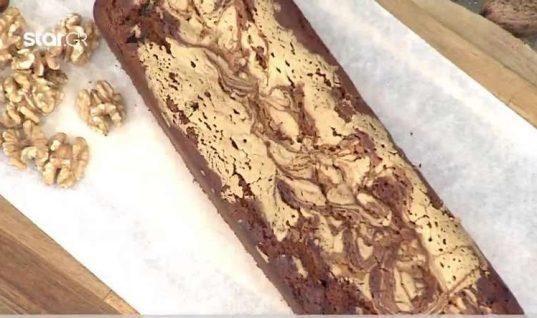 Nηστίσιμο κέικ με ταχίνι και καφέ!