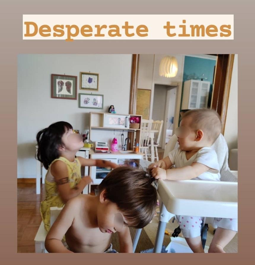 Ο Σωτήρης Κοντιζάς δείχνει με μία φωτογραφία πως είναι η ζωή με τρία παιδιά στο σπίτι!