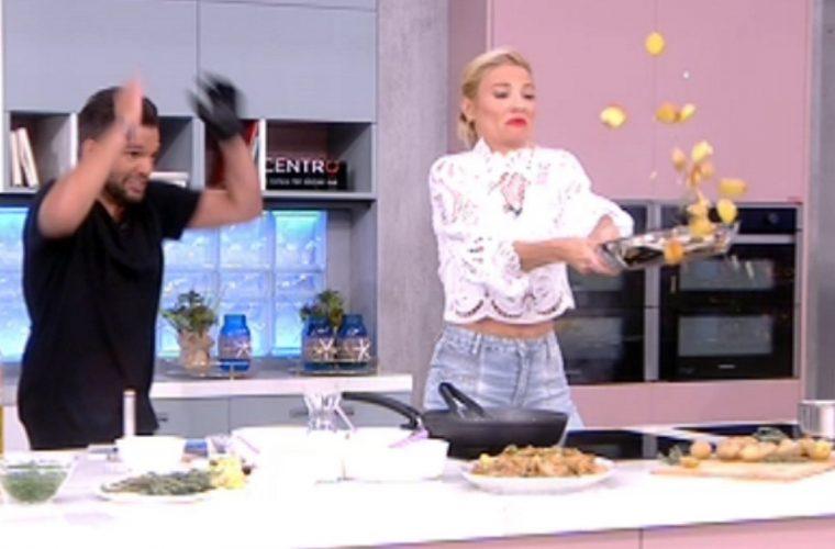 Ξεκαρδιστικό βίντεο με τη Φαίη Σκορδά: Προσπάθησε να γυρίσει το φαϊ στο τηγάνι και απέτυχε παταγωδώς!