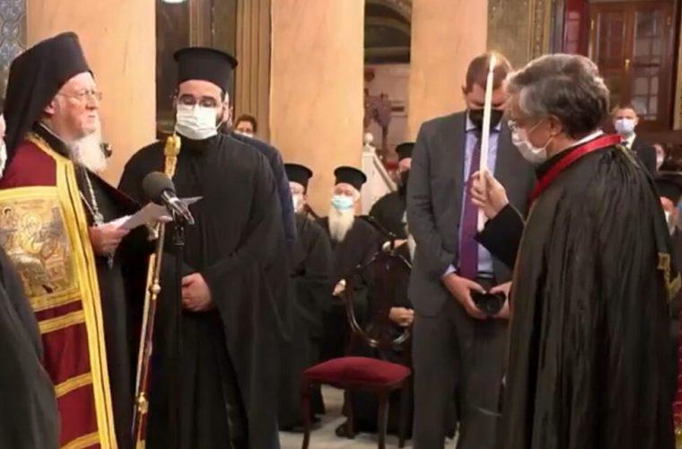Ο Σωτήρης Τσιόδρας χειροθετήθηκε «Άρχοντας Οφφικίαλος» από τον Πατριάρχη Βαρθολομαίο!